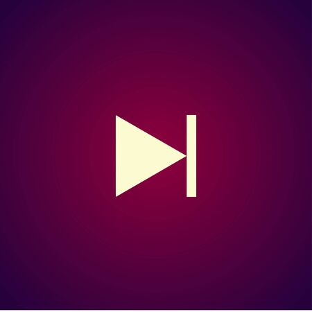 multimedia icon: Glossy multimedia icon next track vector EPS