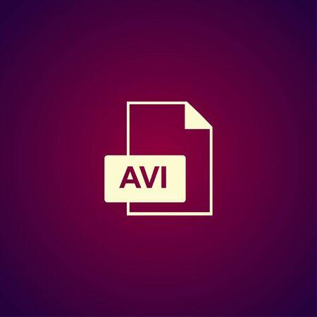 avi: avi file icon. Flat design style eps 10