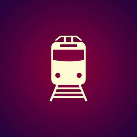 eps vector icon: Train icon, isolated vector eps 10 illustration