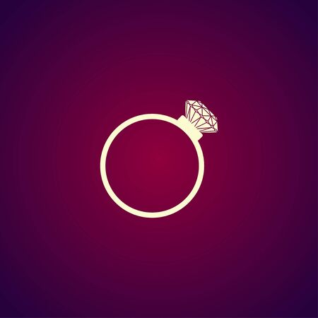 fiance: Ring vector icon. Design style eps 10
