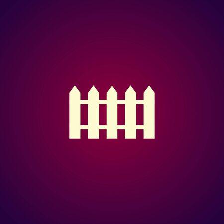 bucolic: fence icon. Flat design style eps 10