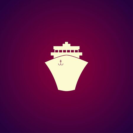 brigantine: Ship icon. Flat design style eps 10 Illustration