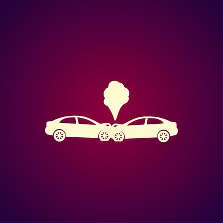 car damage: Car crash concept. Layered vector illustration. Flat Illustration