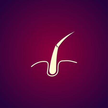 dandruff: Hair, Web icon. vector design. Flat design style