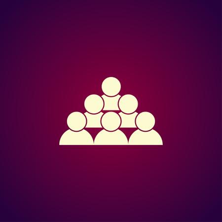 group icon: human icon. Modern design flat style