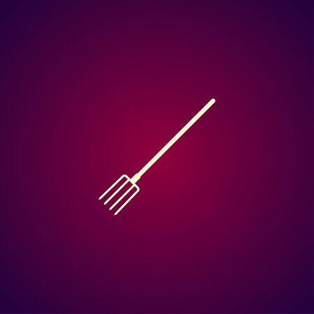 pitchfork: Pitchfork Icon. Vector concept illustration for design.