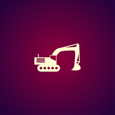 mine site: Excavator icon. Vector concept illustration for design.