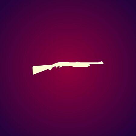 black powder pistol: Shotgun icon. Vector concept illustration for design.