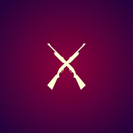 shotgun: Shotgun icon. Vector concept illustration for design.