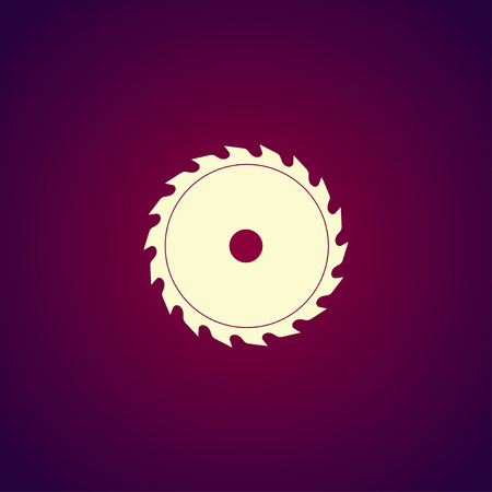 blade: Circular saw blade. Concept illustration for design. Illustration