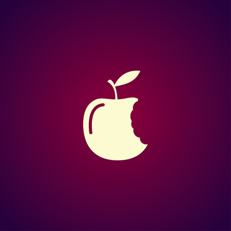 bitten: bitten apple icon. One of set web icons