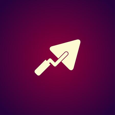 roughcast: trowel icon. Flat design style