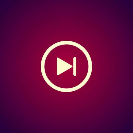 multimedia: Glossy multimedia icon next track vector Illustration