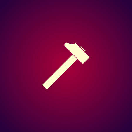 tooling: hammer icon. Flat design style