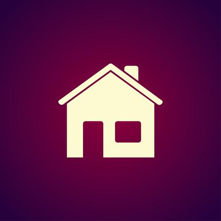 home design: Home icon. Flat design style. Illustration