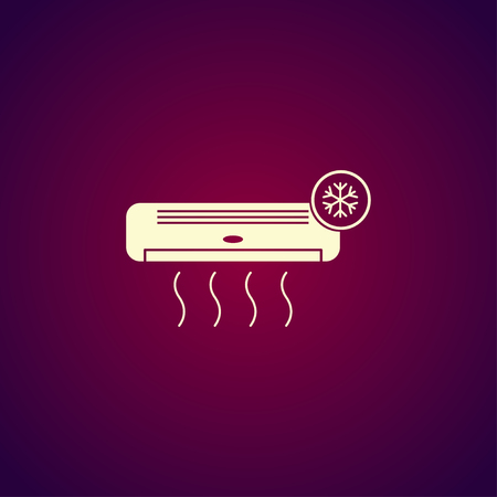 swill: Air conditioner icon. Flat design style