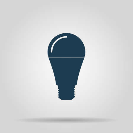 LED lamp icon, vector illustration. Flat design style