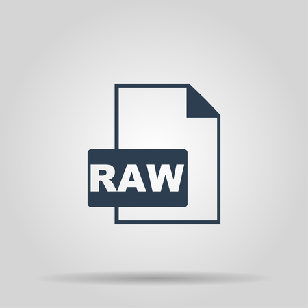 raw: RAW Icon. Vector concept illustration for design.