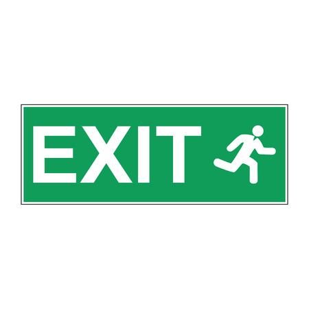 exit emergency sign: Emergency exit vector sign. Concept illustration for design.