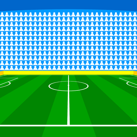 Soccer field with Line and Grass Texture, vector illustration