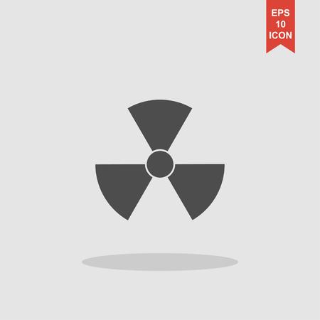 plutonium: radiation symbol. Flat design style eps 10 Illustration