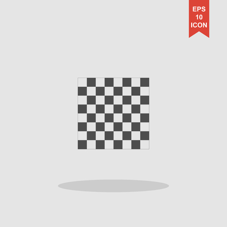 battlefield: wooden chess board. flat view from top. Illustration