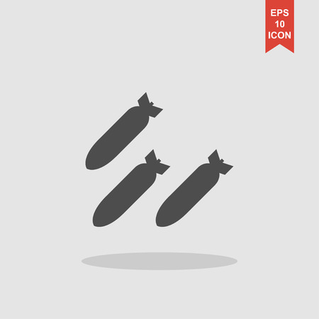 anti aircraft missiles: Air bomb vector icon. Flat design style eps 10 Illustration