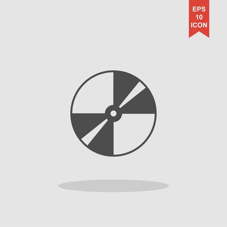recordable: Vector CD or DVD icon. Flat design style eps 10 Illustration