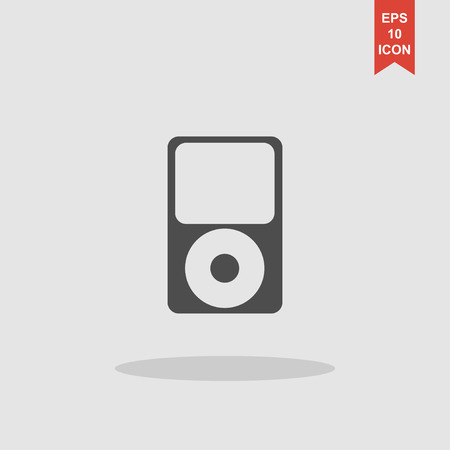 portable player: Portable media player icon. Flat design style. Vector EPS 10 Illustration