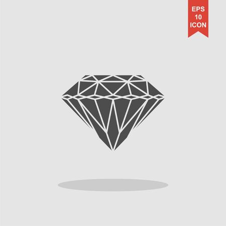 spoil: Diamond icon - Vector illustration EPS 10 flat