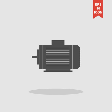 linework: Electric motor icon, Vector flat Illustration EPS Illustration