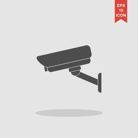 rob: vector illustration silhouette of surveillance cameras. EPS