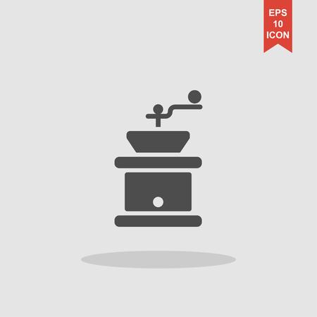 grinder: Coffee grinder. Flat design style eps 10