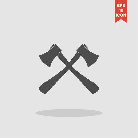 斧のアイコン。斧の記号です。フラットのベクトル図