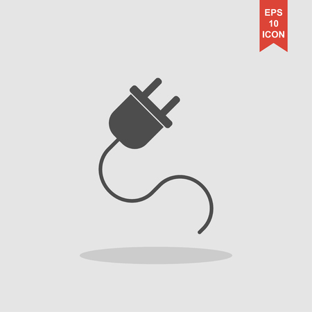 plugs icon,vector illustration. Flat design style eps 10