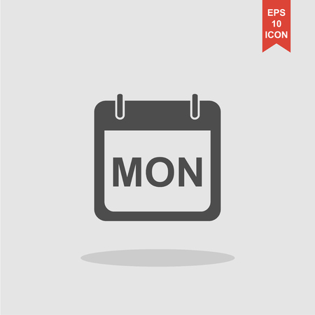 sat: days of the week. Modern design flat style icon.