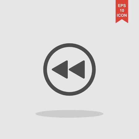 multimedia icon: Glossy multimedia icon forward vector EPS flat
