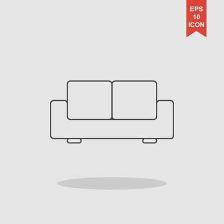 baroque room: Comfortable sofa Icons. Flat design style eps 10