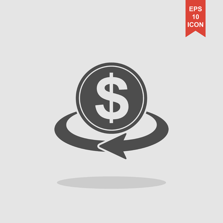 convert: money convert icon. Flat design style eps 10