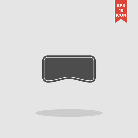 Virtual reality headset icon, flat design, vector