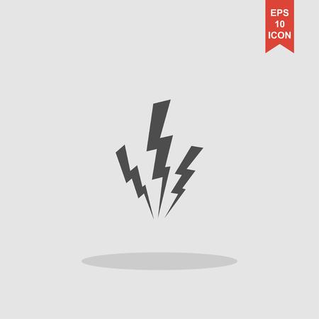 lightning speed: lightning vector illustration or icon, flat design