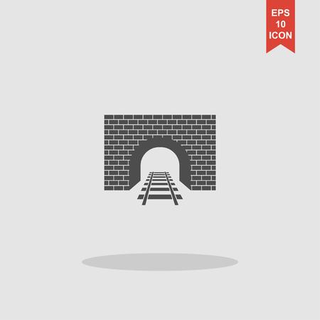 railroad: Tunnel icon. Vector concept illustration for design.