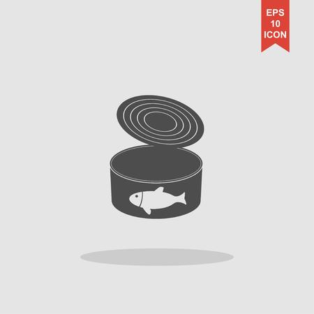 preservatives: cans - canned food. Vector concept illustration for design. Illustration