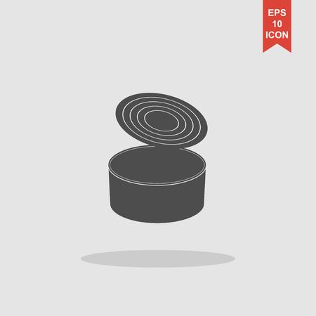 tincan: cans - canned food. Vector concept illustration for design. Illustration