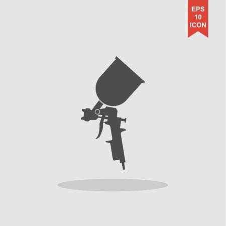 Airbrush Autolack-Symbol. Konzept Illustration für Design. Standard-Bild - 59683962
