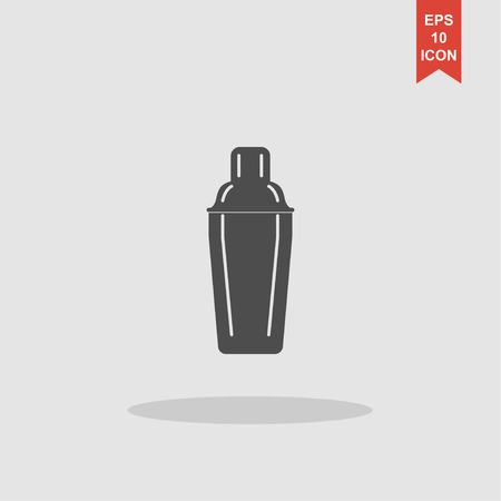 cocktail shaker: Cocktail shaker icon. Concept illustration for design.