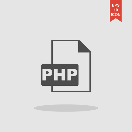 php: PHP file extension. Concept illustration for design.