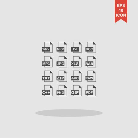 xls: File Icons. Vector concept illustration for design. Illustration