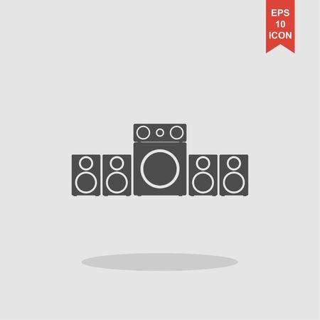tercet: Speaker icon. Vector concept illustration for design.