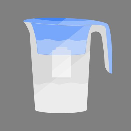 water jug: Water jug with a filter. Concept illustration for design.